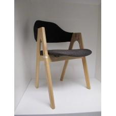 Eclipse Liscio Wooden Chair - Dark Brown Fabric - CLR006