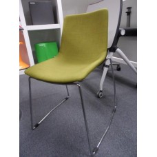 Eclipse Sled Base Chair Lime Green Fabric - CLR021