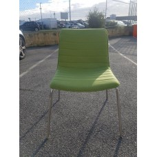 Eclipse Chair - Lime Green Fabric - Chrome Legs - CLR036