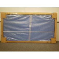 Eclipse Desk Pinnable Screen 1500w x 800h - White Frame Blue Fabric - CLR055