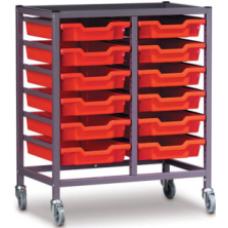 Eclipse® Steel Gratnells Tray Trolley - 2 Bay - ESTTC2
