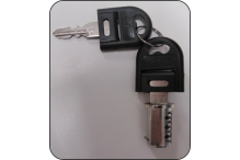 Ausfile Spare Barrel with 2 Keys - Steel Products - KEYBS