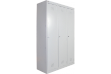 Ausfile Locker 1 Door - 375mm wide Bank of 3 - AL1D375BK3