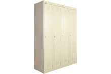 Ausfile Locker 1 Door - 300mm wide Bank of 4 - AL1D300BK4 / MC4D