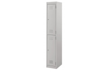 Ausfile Locker 2 Door - 375mm wide Single - AL2D375BK1