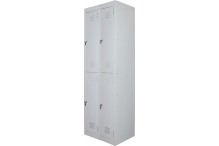 Ausfile Locker 2 Door - 300mm wide Bank of 2 - AL2D300BK2 / MC5B