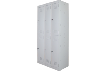 Ausfile Locker 2 Door - 375mm wide Bank of 3 - AL2D375BK3