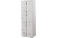 Ausfile Locker 3 Door - 300mm wide Bank of 2 - AL3D300BK2 / MC6B