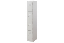 Ausfile Locker 4 Door - 375mm wide Single - AL4D375BK1