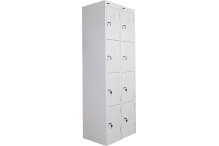 Ausfile Locker 4 Door - 375mm wide Bank of 2 - AL4D375BK2