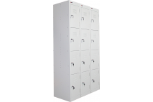 Ausfile Locker 4 Door - 375mm wide Bank of 3 - AL4D375BK3