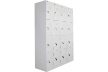 Ausfile Locker 4 Door - 300mm wide Bank of 4 - AL4D300BK4 / MC7D