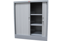 Ausfile® Tambour Door Cupboard - 1020h x 900w - 2 Shelves (Govt Only) - GAT10209 / MC2A