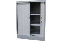 Ausfile® Tambour Door Cupboard - 1200h x 900w - 2 Shelves (Govt Only) - GAT12009 / MC2G