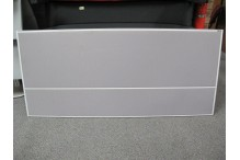 Pinnable Desk Screen - Light Grey Fabric - White Frame 800h x 1800w - CLR002