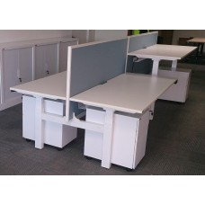 Eclipse® Electric Tranquilo Sit and Stand Desk Back to Back 1500 x 750 - BELTBB15
