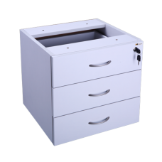 Eclipse® Banksia Fixed Pedestal 3 Pen Drawers - EBFP3P
