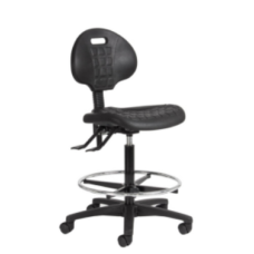 Eclipse® Curie Lab Stool Chair - With Castors - CHLS3