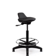 Eclipse® Curie Lab Stool - Contour - With Glides - CHLS2
