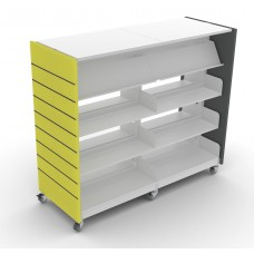 Eclipse Library Shelving - Mobile 1600- ELSM1600D