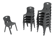 Eclipse Lynx Poly Chair - 350h - CHLYNX350