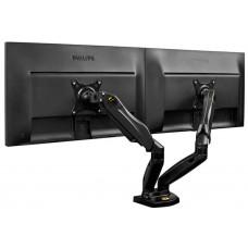 Eclipse® Gas-strut Desktop Full Motion Mount Double Monitor Arm - ECLDMA160