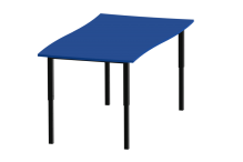 Eclipse Swerve Education Desk - Adjustable Height - DAH12600