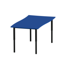 Eclipse® Swerve Education Desk - Adjustable Height - DAH12600