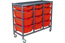 Eclipse Tray Trolley 3 Bay - ECTT3B