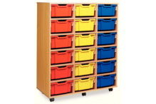 Eclipse Melamine Tray Trolley 3 Bay Tall - ECTT3BM