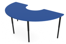 Eclipse Curve Education Desk - Adjustable Height - DAH18900