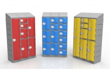 Eclipse® Blow Moulded Poly School Lockers EPLHH1D